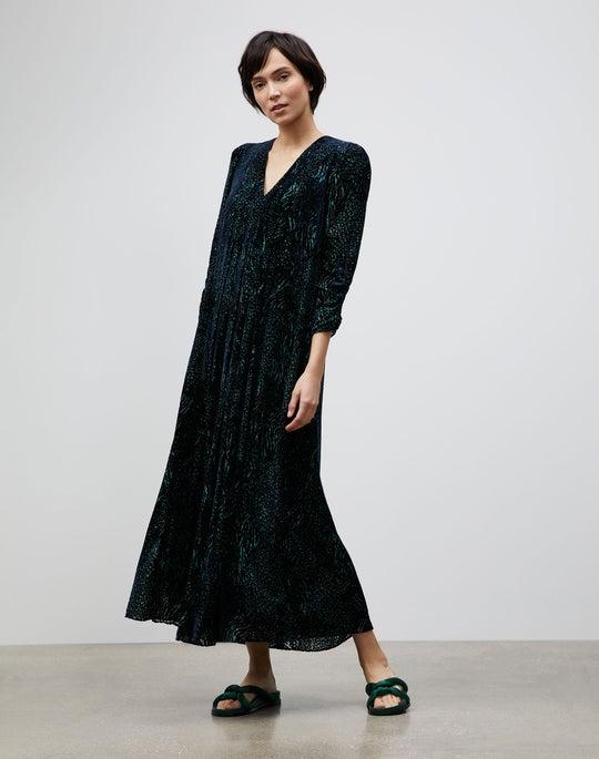 Devore Dot Print Joyce Dress