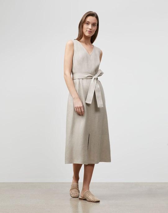 Petite Lily Dress In Lavish Linen