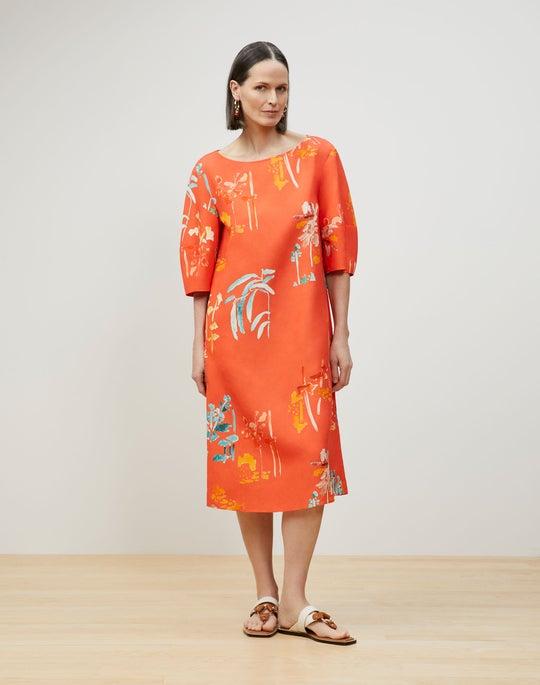 Cait Midi Dress In Oasis Print Coastal Cloth