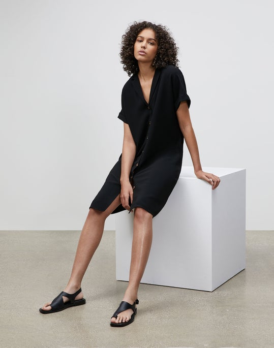 Sawyer Shirtdress In Finesse Crepe