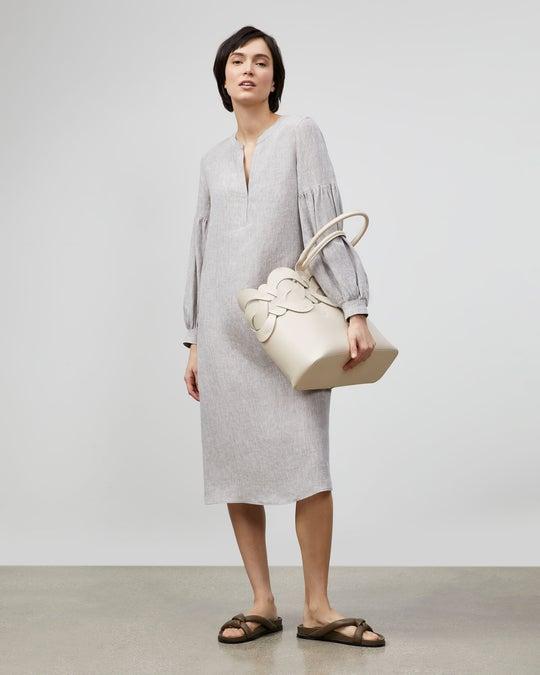 Maylin Dress In Illustrious Linen