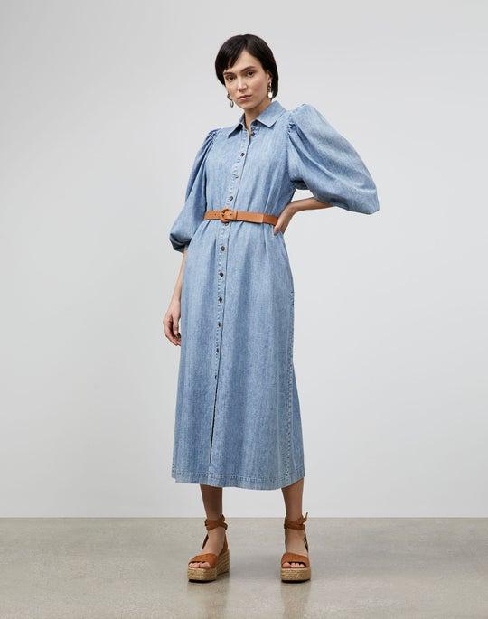 Mia Shirtdress In Italian KindCotton Chambray