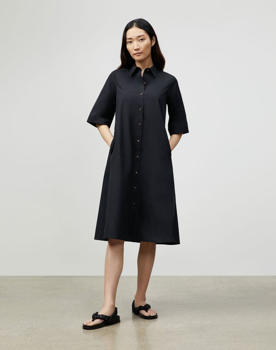 Sedwick Shirtdress In Italian Sculpted Kindcotton