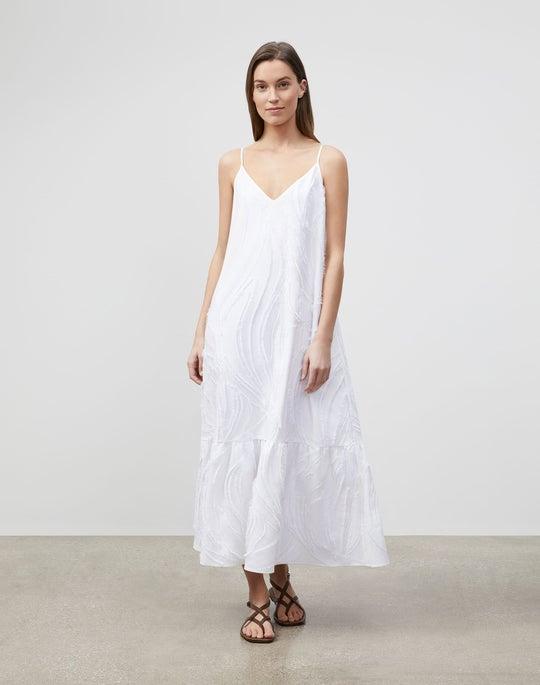 Josephine Maxi Dress In Aerial Italian Jacquard