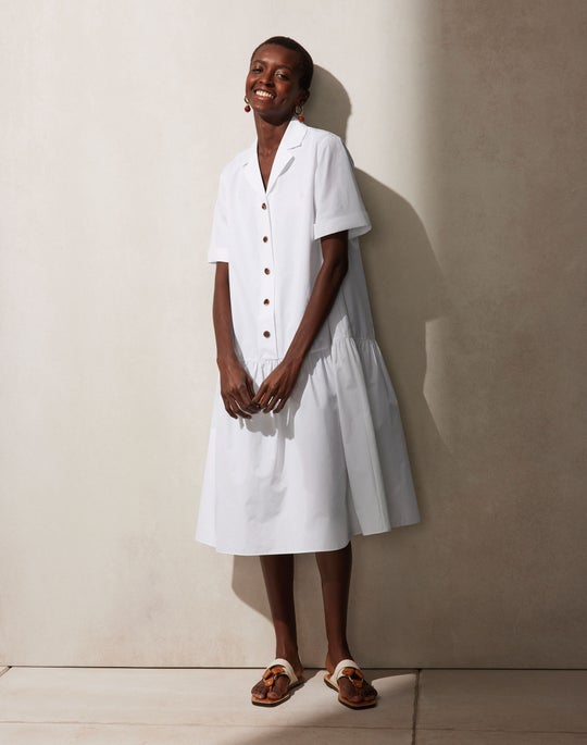 Italian Sculpted KindCotton Orion Shirtdress Outfit