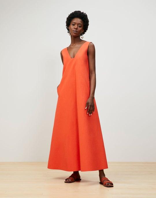 Plus-Size Harper Dress In Tactile Italian Cotton