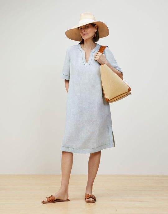 Ellery Dress In Illustrious Linen