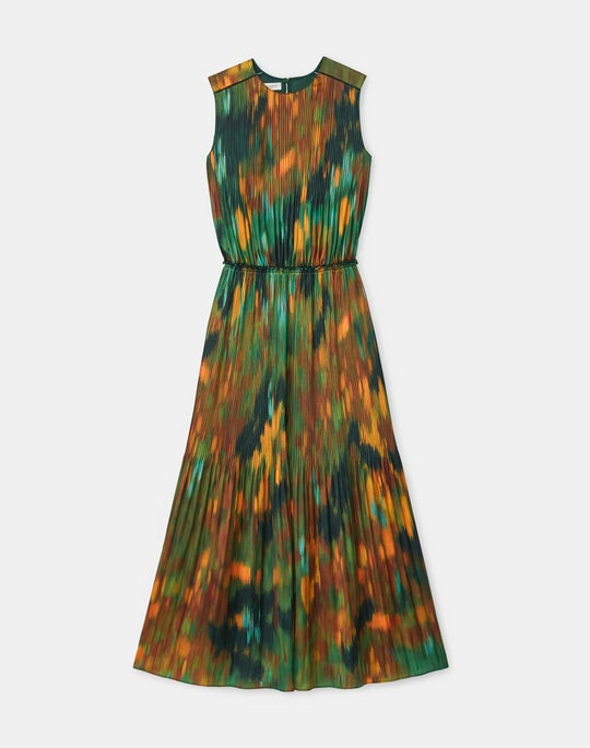 Petite Levana Dress In Reverie Print KindMade Hammered Satin