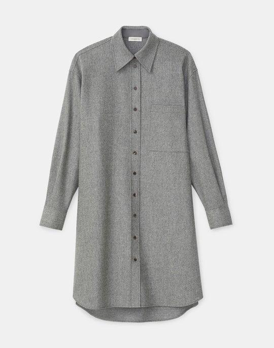 Rhea Shirtdress In Finite Italian Flannel