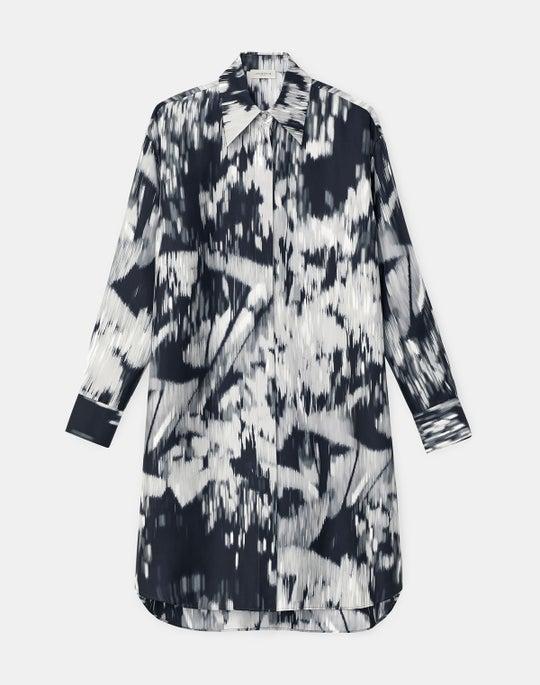 Rhea Shirtdress In Daydream Print Silk Twill