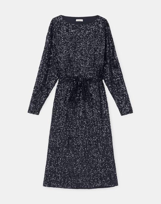 Watkins Shift Dress In Shimmering Sequins