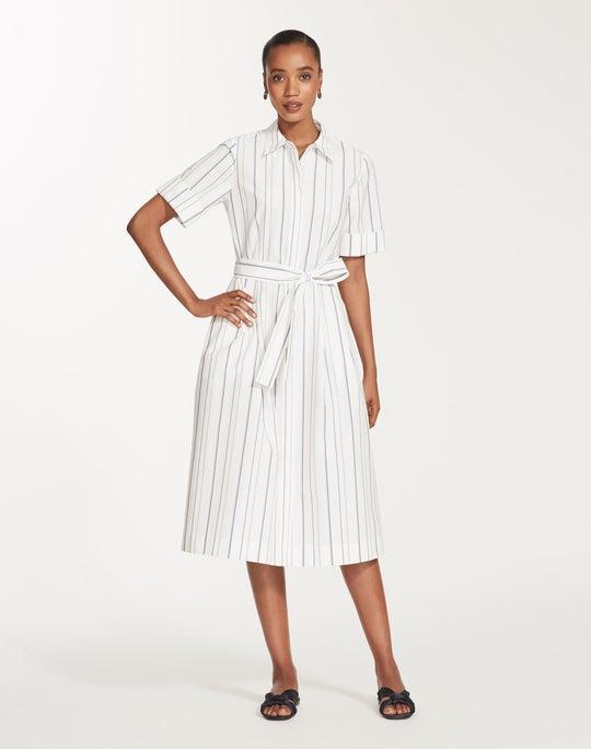 Plus-Size Solstice Stripe Eleni Shirtdress