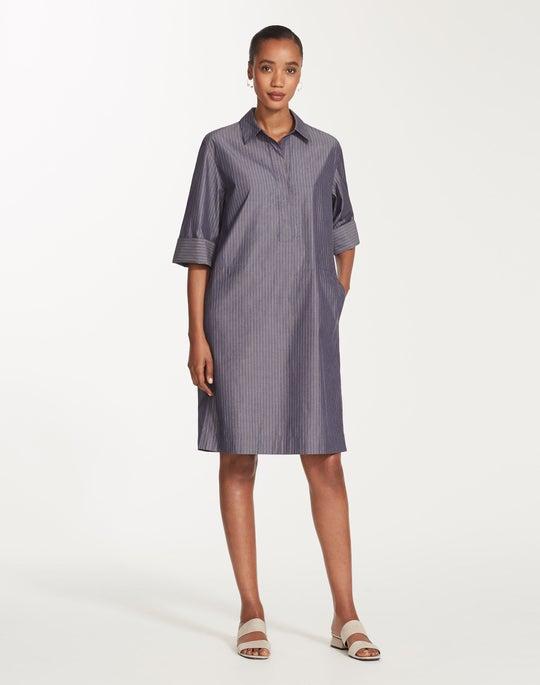 Plus-Size Avalon Stripe Cara Shirtdress
