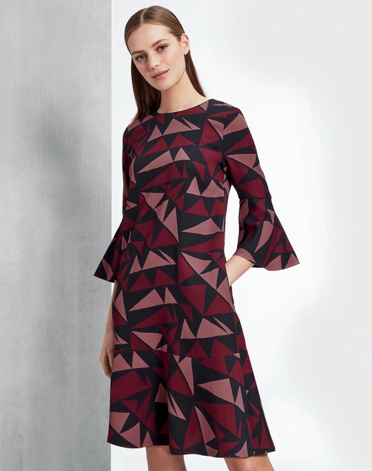Bold Triangles Fluid Cloth Billie Dress