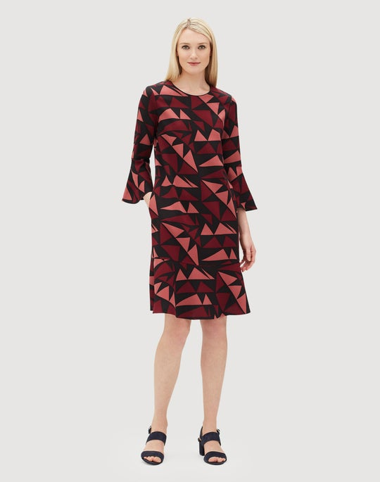 Petite Bold Triangles Fluid Cloth Billie Dress