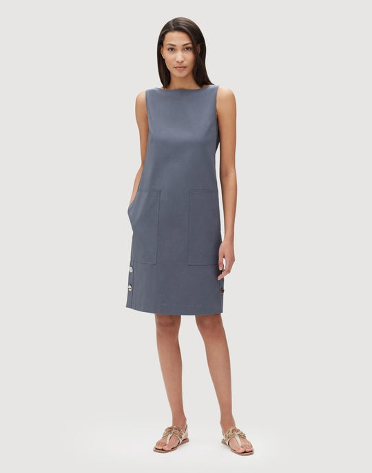 Petite Italian Gabardine Collins Dress