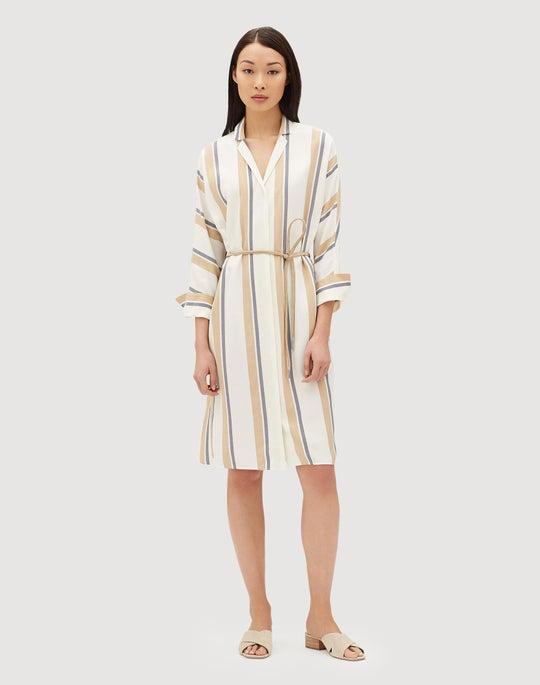 Vienna Stripe Calleigh Shirtdress/Duster