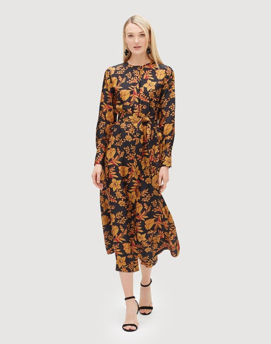 Fanciful Floral Silk Coleen Dress