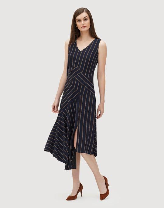 Studio Stripe Drape Cloth Ashlena Dress