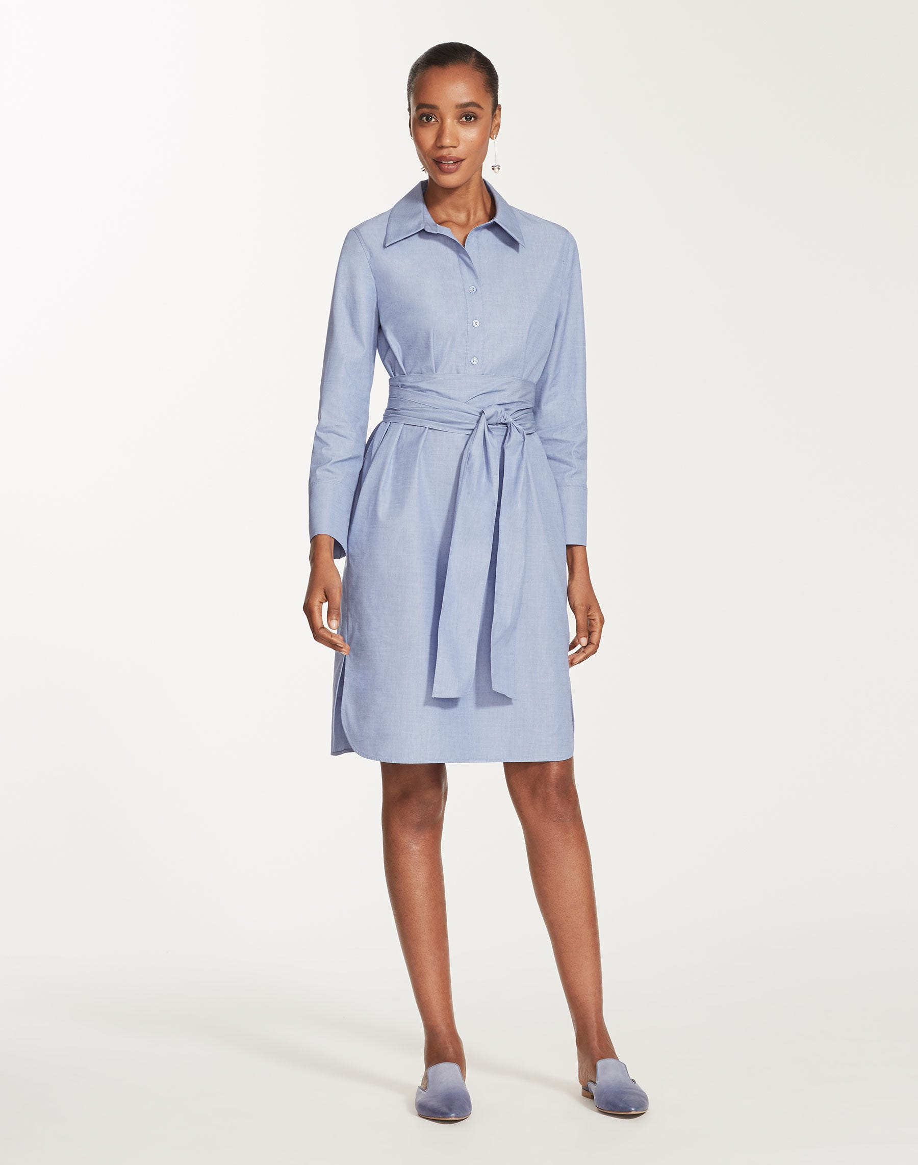 Plus-Size Anthology Shirting Fabiola Dress   Lafayette 148 New York