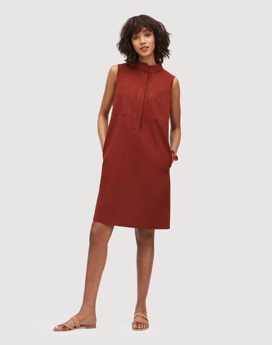 Italian Bi-Stretch Pima Cotton Mitchell Dress