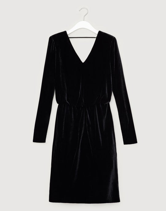Classic Velvet Josefina Blouson Dress