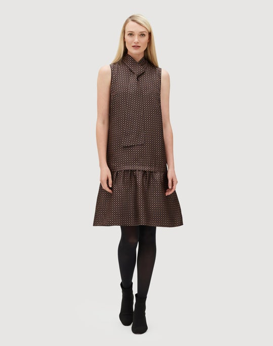 Classic Foulard Silk Abbie Dress