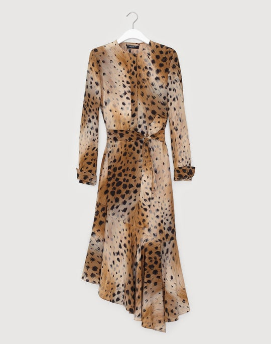 Agave Leopard Silk Delancy Dress