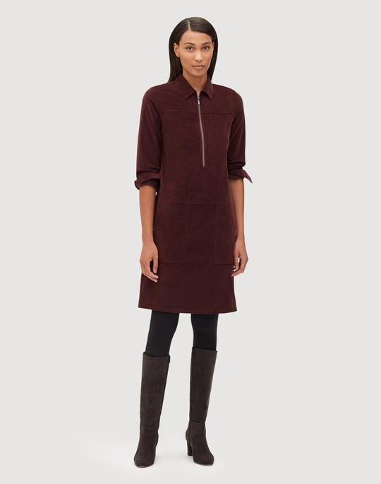 Petite Curated Corduroy Bowie Dress