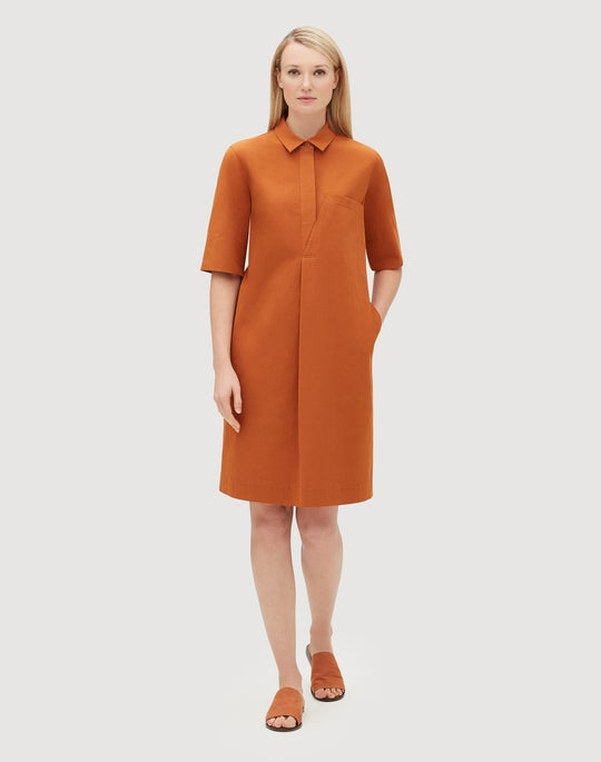 Italian Bi-Stretch Pima Cotton Casper Shirtdress
