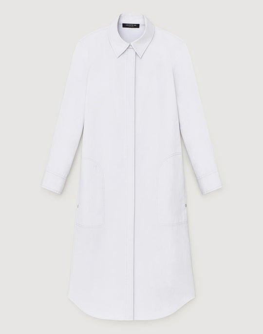 Petite Italian Bi-Stretch Pima Stretch Peggy Shirtdress