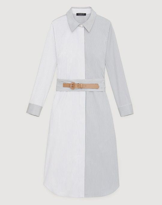 Petite Parkside Stripe Cotton Peggy Dress