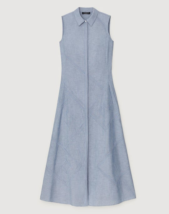 Plus-Size Artisan Chambray Ryden Dress