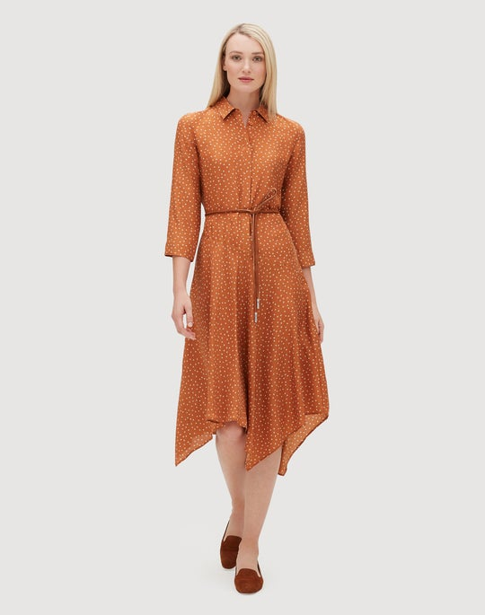 Petite Brilliant Boxes Silk Rizzo Dress