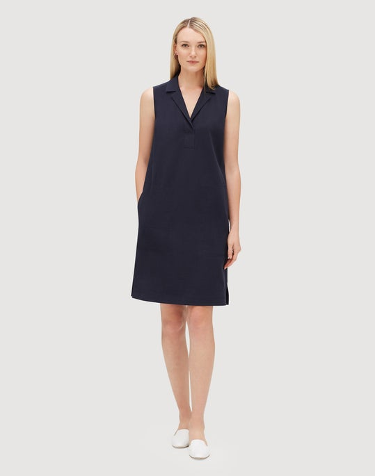 Petite Italian Bi-Stretch Pima Cotton Kit Shirtdress