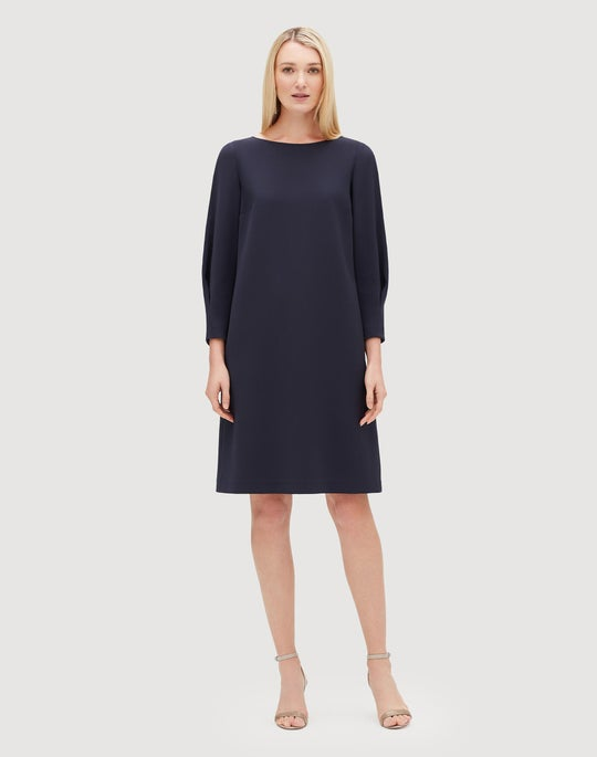 Plus-Size Finesse Crepe Caddie Dress