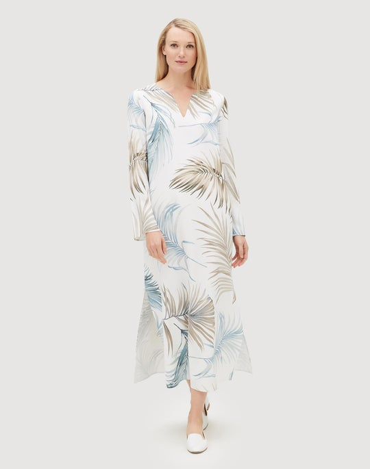 Posh Palm Drape Cloth Wilmer Dress