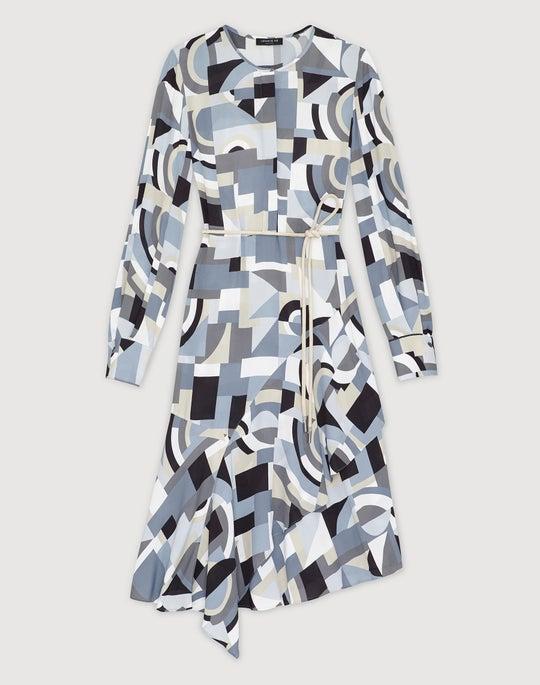 Genteel Geometry Crepe Paris Dress