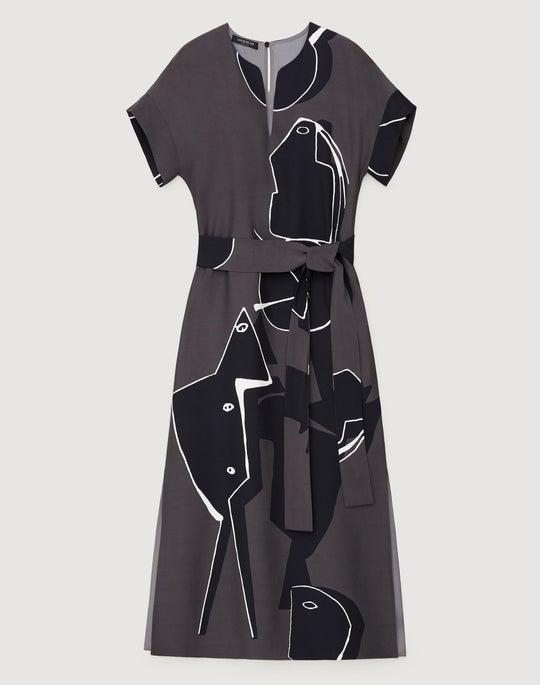 Musings Print Drape Cloth Cosimia Dress