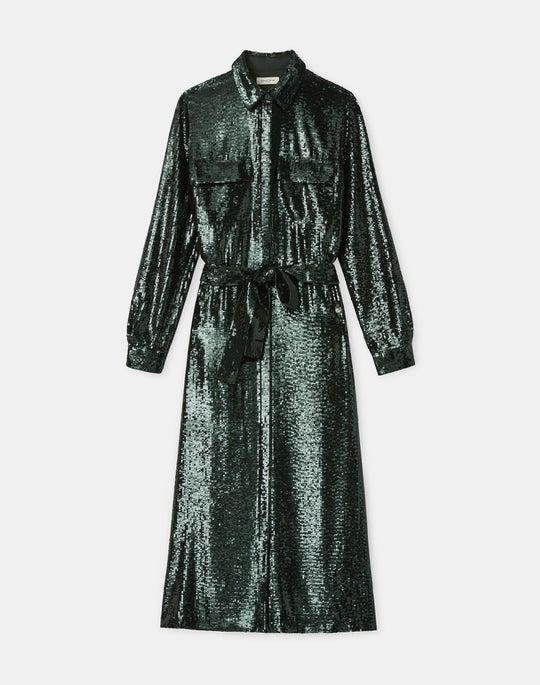 Doha Shirtdress In Spectrum Sequins