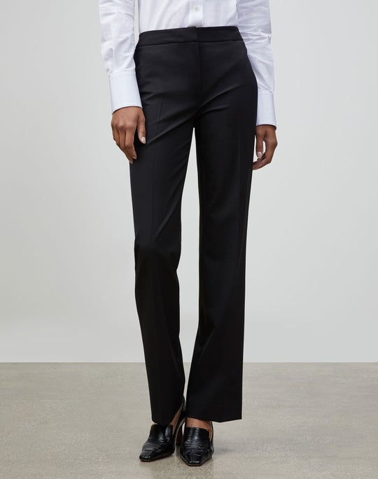 Petite Italian Stretch Wool Menswear Pant
