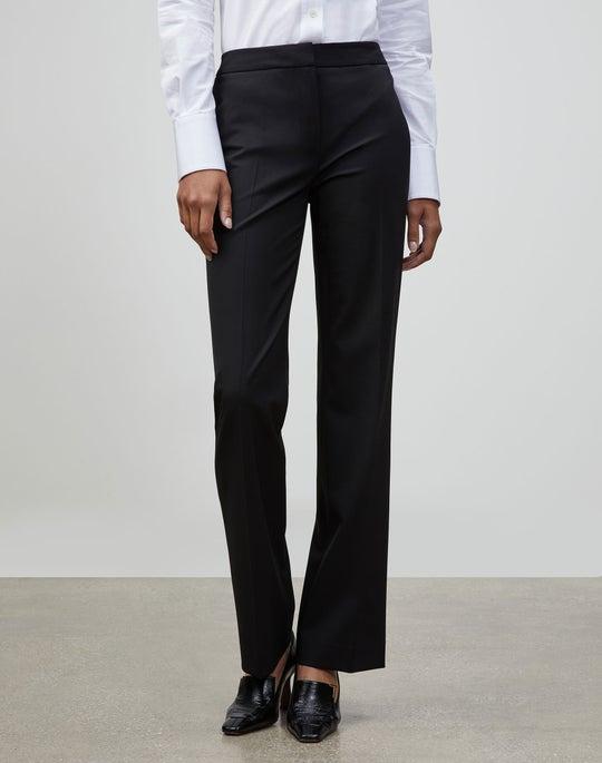 Petite Italian Stretch Wool Menswear Pant
