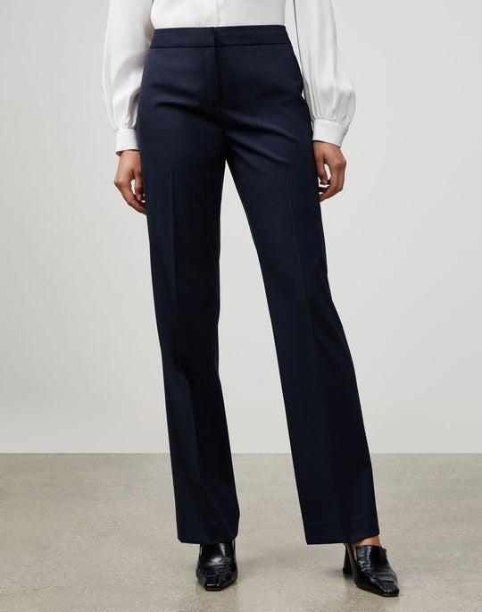 Plus-Size Italian Stretch Wool Menswear Pant