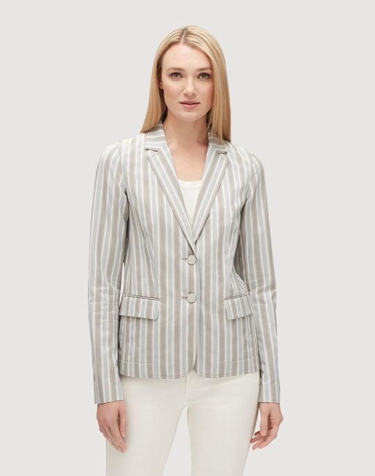 Petite Elixir Stripe Vangie Jacket