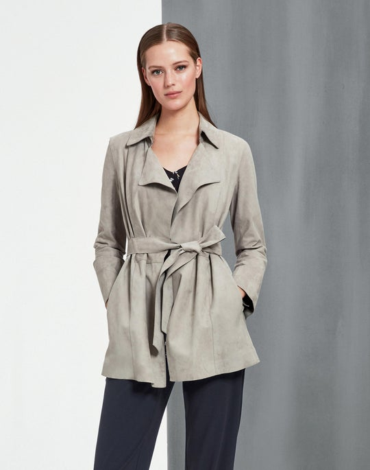 Luxuriant Lambsuede Hadley Trench
