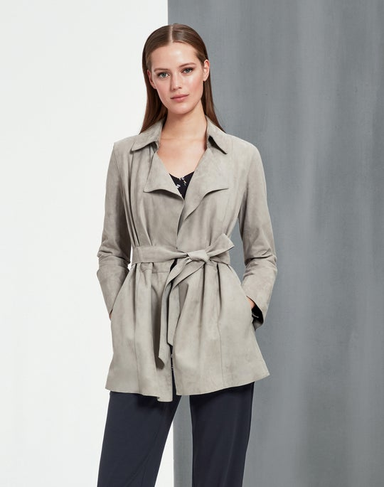 Suede Hadley Trench and Fulton Pant