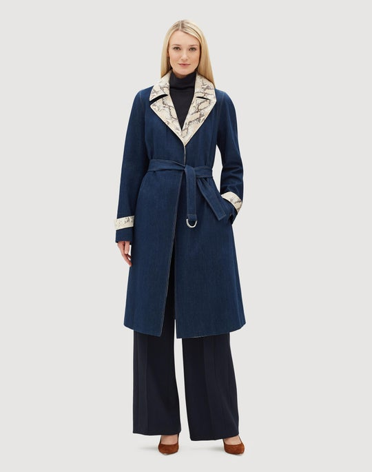Cutting Edge Denim Tandra Trench Coat