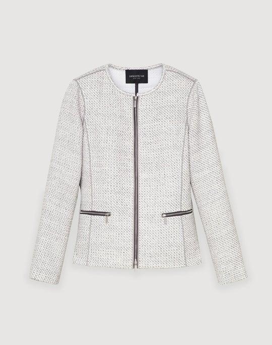 Plus-Size Trestle Weave Kerrington Jacket