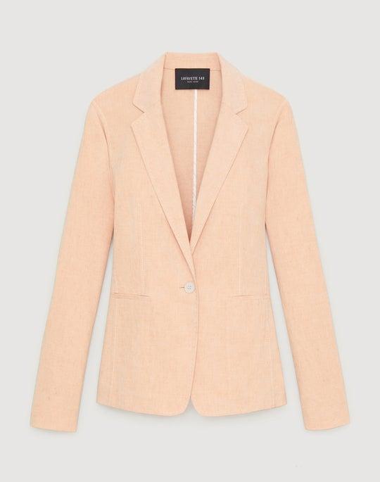 Plus-Size Tempra Linen Blend Lyndon Jacket