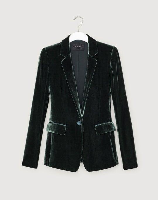 Plus-Size Classic Velvet Lyndon Jacket